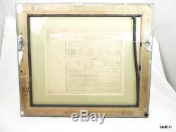1836 1889 Used French Panama Share No Stamps Nice Double Side Glass Frame