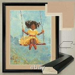 26Wx32H SWING NO. 11 by REBECCA KINKEAD DOUBLE MATTE, GLASS and FRAME