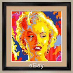 32Wx32H MARILYN MONROE by VLADIMIR GORSKY NORMA DOUBLE MATTE, GLASS & FRAME