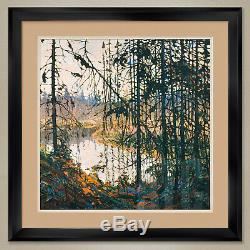 32Wx32H NORTHERN RIVER by TOM THOMSON GROUP OF 7 DOUBLE MATTE, GLASS & FRAME