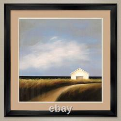 32Wx32H ROAD PAST THE BARN by TJASA OWEN DOUBLE MATTE, GLASS and FRAME