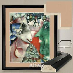 32Wx38H I AND THE VILLAGE 1911 by MARC CHAGALL DOUBLE MATTE, GLASS & FRAME