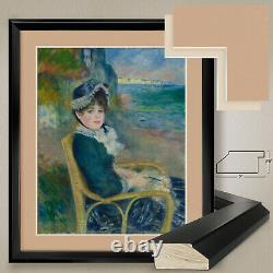 32Wx38H THE SEASHORE by PIERRE-AUGUST RENOIR DOUBLE MATTE, GLASS and FRAME