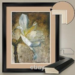 32Wx40H AUBADE FLORAL by DENNIS CARNEY DOUBLE MATTE, GLASS and FRAME