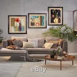 32Wx40H BARACK OBAMA SITTING OVER WALL GARDEN DOUBLE MATTE, GLASS & FRAME