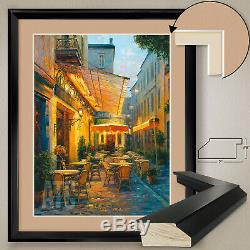 32Wx40H CAFE VAN GOGH by HAIXIA LIU VINCENT DOUBLE MATTE, GLASS and FRAME