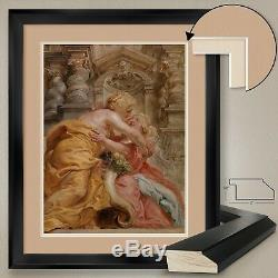 32Wx40H EMBRACING PEACE by SIR PETER PAUL RUBENS DOUBLE MATTE GLASS and FRAME