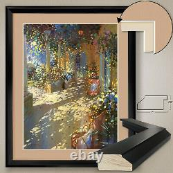 32Wx40H OMBRE by LAURENT PARCELIER, DOUBLE MATTE, GLASS and FRAME
