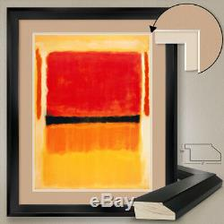 32Wx40H ORANGE YELLOW WHITE RED by MARK ROTHKO DOUBLE MATTE, GLASS and FRAME