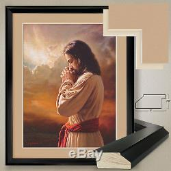 32Wx40H OUR FATHER by MARK MISSMAN -JESUS CHRIST DOUBLE MATTE, GLASS and FRAME