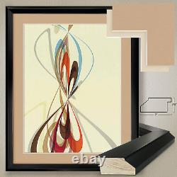 32Wx40H PURER NO. 15 by CAMPBELL LAIRD SWIRLS DOUBLE MATTE, GLASS and FRAME