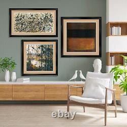 32Wx44H COUNTRY ROAD IN PROVENCE by V VAN GOG DOUBLE MATTE, GLASS and FRAME