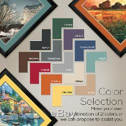 32Wx44H ISLAND REFLECTIONS by ROY GONZALEZ TABORA -DOUBLE MATTE, GLASS & FRAME