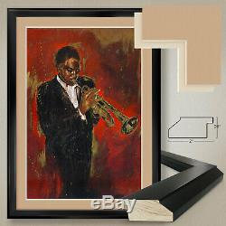 32Wx44H JAZZ I by ELENA LITVIN INTERNATIONAL DOUBLE MATTE, GLASS & FRAME