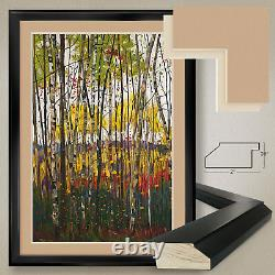 32Wx44H VOILE DE MONTOGNE by GRAHAM FORSYTHE DOUBLE MATTE, GLASS and FRAME