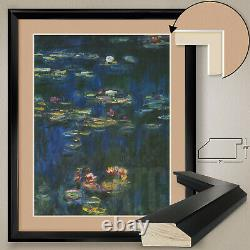 32x40H LES NYMPHEAS by CLAUDE MONET, DOUBLE MATTE, GLASS and FRAME