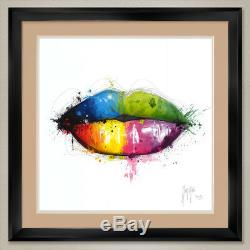 35Wx35H CANDY MOUTH by PATRICE MURCIANO DOUBLE MATTE, GLASS and FRAME