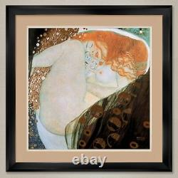 35Wx35H DANAE by GUSTAV KLIMT DOUBLE MATTE, GLASS and FRAME