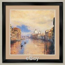 35Wx35H GRAND CANAL by CURT WALTERS VENICE DOUBLE MATTE, GLASS and FRAME