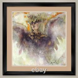 35Wx35H HUMILITY & LOVE by ELVIRA AMRHEIN DOUBLE MATTE GLASS and FRAME