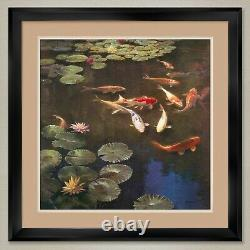 35Wx35H INCLINATIONS by CURT WALTERS FISH DOUBLE MATTE, GLASS and FRAME
