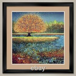 35Wx35H JEWEL RIVER by MELISSA GRAVES-BROWN DOUBLE MATTE, GLASS and FRAME