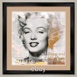 35Wx35H LEGEND (MARILYN MONROE) by GERY LUGER DOUBLE MATTE, GLASS and FRAME