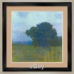 35Wx35H MEZZO FORTE by RICHARD MAYHEW TREE DOUBLE MATTE, GLASS and FRAME