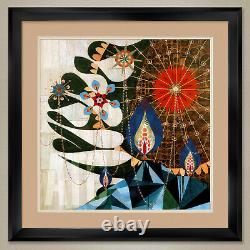 35Wx35H PARMOTREMA by REX RAY DOUBLE MATTE, GLASS and FRAME