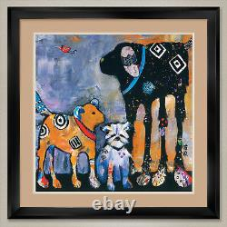 35Wx35H PROUD MOM by JENNY FOSTER DOUBLE MATTE, GLASS and FRAME