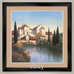 35Wx35H RETURN TO PROVENCE by MAX HAYSLETTE DOUBLE MATTE, GLASS and FRAME