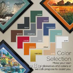 35Wx35H SOFT LIGHT by ALLISON PEARCE TREE DOUBLE MATTE, GLASS and FRAME