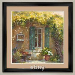 35Wx35H SOUS LA TONNELLE by JOHAN MESSELY DOUBLE MATTE, GLASS and FRAME