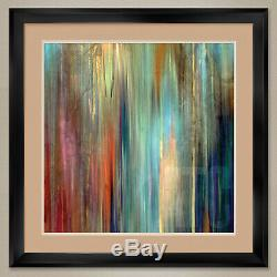 35Wx35H SUNSET FALLS II by JOHN BUTLER DOUBLE MATTE, GLASS and FRAME
