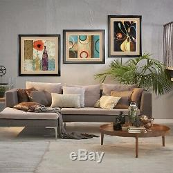 35Wx35H TIDAL RETREAT by JOSE BARBERA BOAT DOUBLE MATTE, GLASS and FRAME
