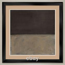 35Wx35H UNTITLED 1969 by MARK ROTHKO DOUBLE MATTE, GLASS and FRAME