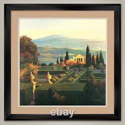 35Wx35H VILLA DORCIA by MAX HAYSLETTE DOUBLE MATTE, GLASS and FRAME