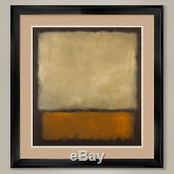 35Wx38H NO 7 BROWN GRAY ORANGE by MARK ROTHKO DOUBLE MATTE, GLASS and FRAME