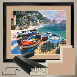 38Wx32H CAPRI COVE by HOWARD BEHRENS DOUBLE MATTE, GLASS and FRAME