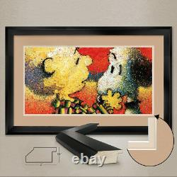 40Wx24H DOG BREATH by TOM EVERHART SNOOPY DOUBLE MATTE, GLASS and FRAME