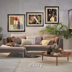 40Wx32H 5 CRAZY PALMS by JEAN BRADLEY DOUBLE MATTE, GLASS and FRAME