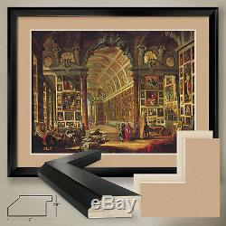 40Wx32H CARDINAL VALENTI by GIOVANNI PAOLO PANINI -DOUBLE MATTE, GLASS & FRAME