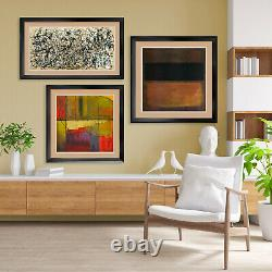 40Wx32H COLONIAL CUBISM by STUART DAVIS DOUBLE MATTE, GLASS and FRAME