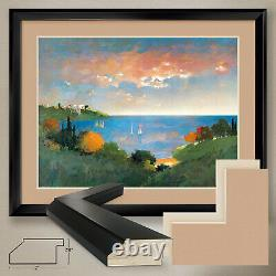 40Wx32H CYPRESS POINT by MAX HAYSLETTE DOUBLE MATTE, GLASS and FRAME