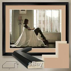 40Wx32H IN THOUGHTS OF YOU by JACK VETTRIANO DOUBLE MATTE, GLASS and FRAME