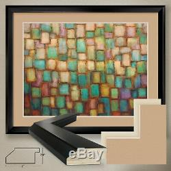40Wx32H JEWEL by ALEXANDRA PERRY PATCHES DOUBLE MATTE, GLASS and FRAME