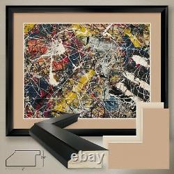 40Wx32H NUMBER 17A, 1948 by JACKSON POLLOCK DOUBLE MATTE, GLASS and FRAME