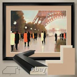 40Wx32H PARIS REMEMBERED by LORRAINE CHRISTIE DOUBLE MATTE, GLASS and FRAME