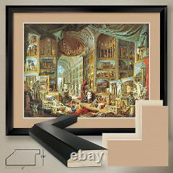 40Wx32H ROMA MODERNA by GIOVANNI PAOLO PANINI DOUBLE MATTE, GLASS and FRAME
