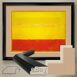 40Wx32H UNTITLED 1952 YELLOW ORANGE by MARK ROTHKO DOUBLE MATTE, GLASS & FRAME
